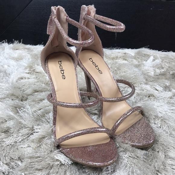 bebe Shoes   Nwot Light Pink Glitter